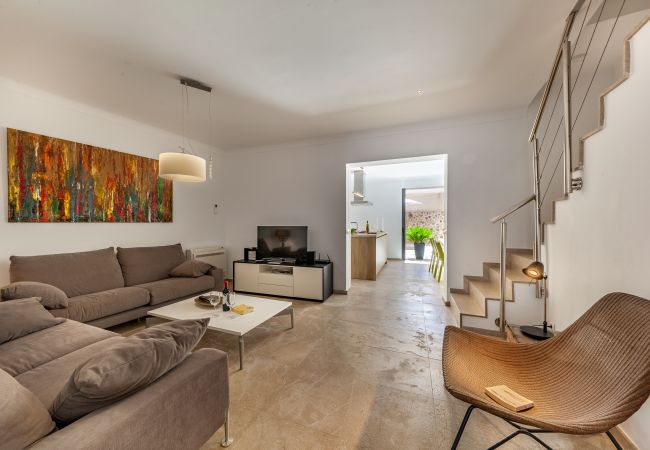 LOUNGE, STAIRS, L'HORTA, RENTALS POLLENSA
